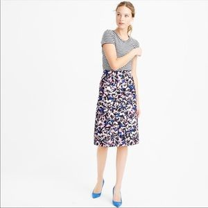 J. Crew A-line Floral in Hibiscus Print